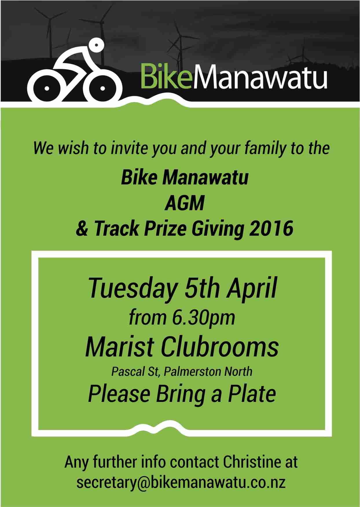 Bike Manawatu AGM Invite