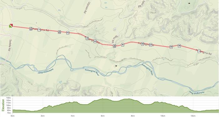 Novice Tour Stage 2 ITT course map
