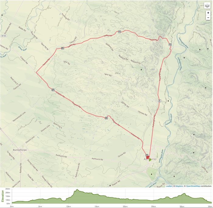 Novice Tour Stage 3 - 1 Lap Map