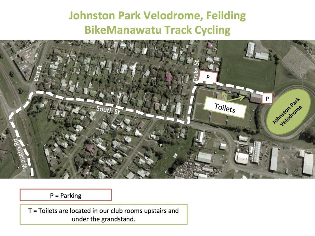 Johnston Park Velodrome Map