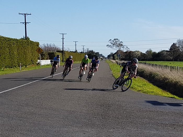 Race 2 A1 Loops 1 Sept 2018.  {Philip Wilson} turning from Tainoui rd to Reid Line East