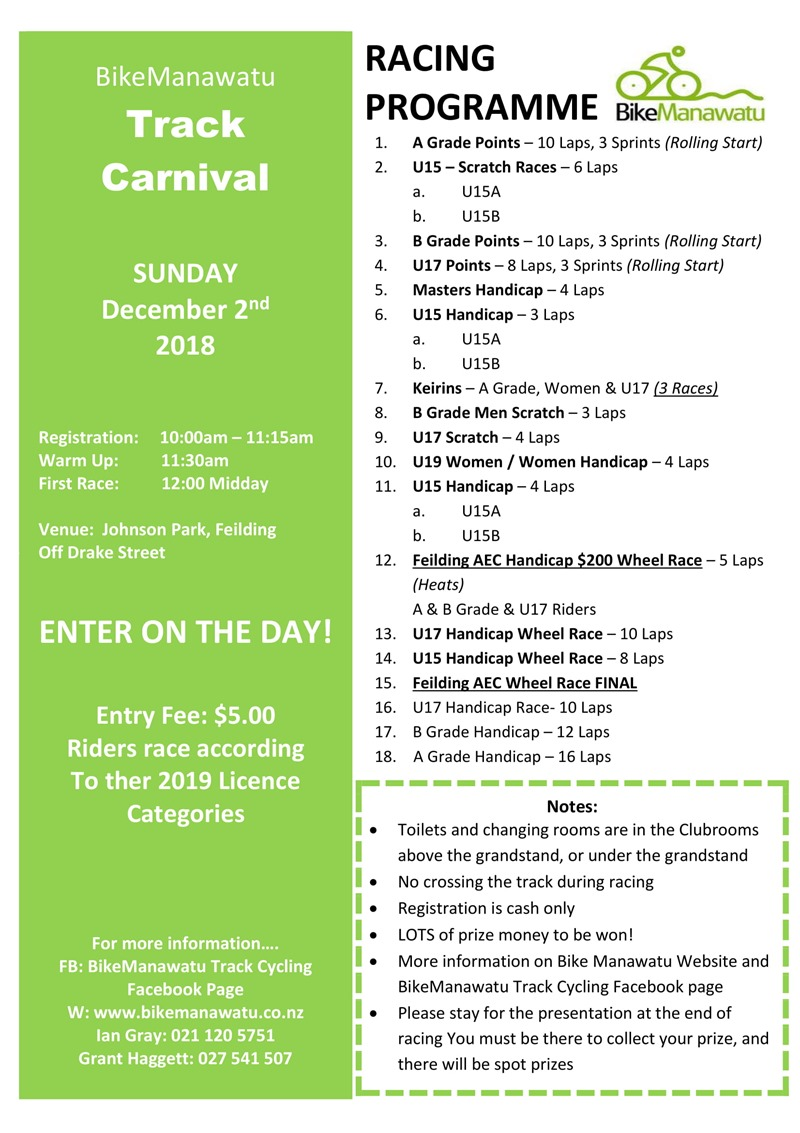 2018 Track Carnival Race Programme-1