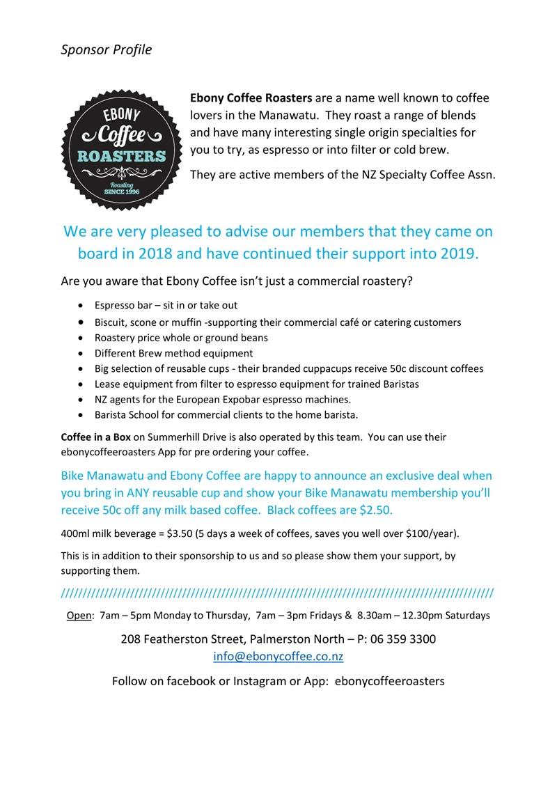 Bike Manawatu 2018-19 Ebony Coffee Promo 2019-1