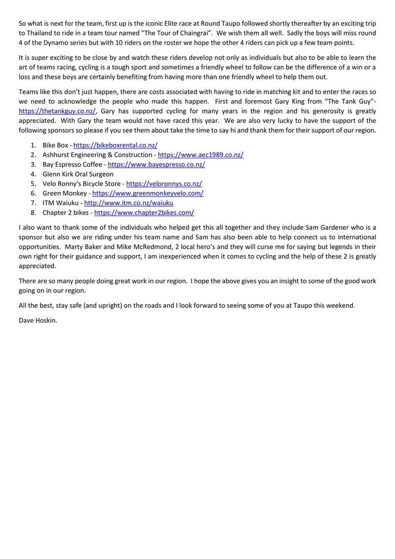 Tank Guy Cycling Development Team Update.-4