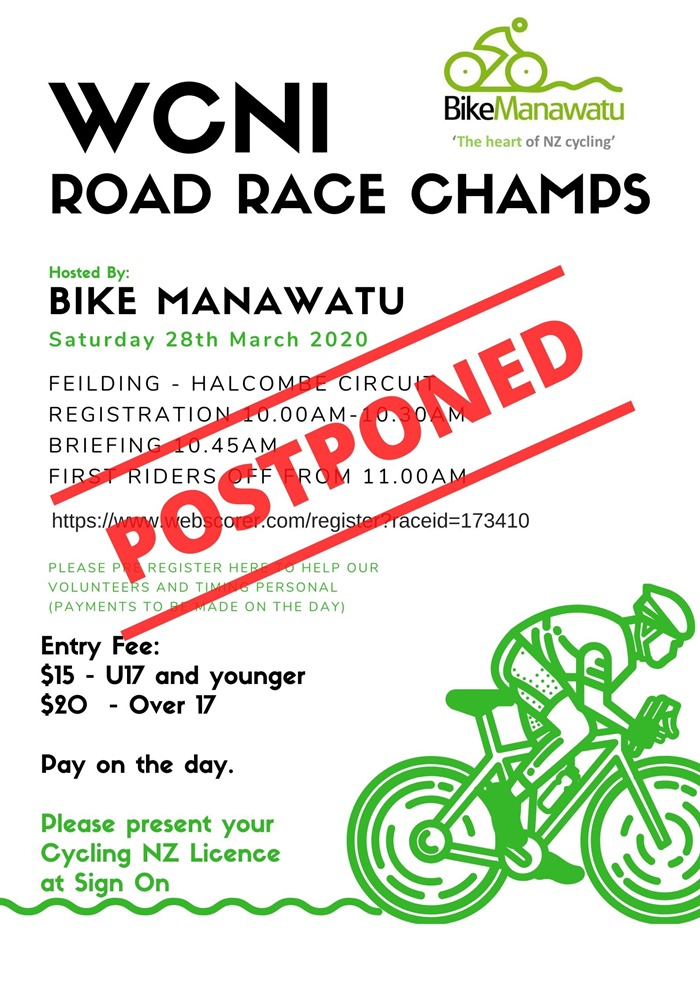 Postponed 2020 WCNI RR Champs