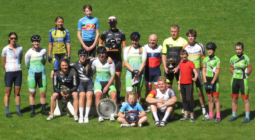 NZ team members with some of the junior riders