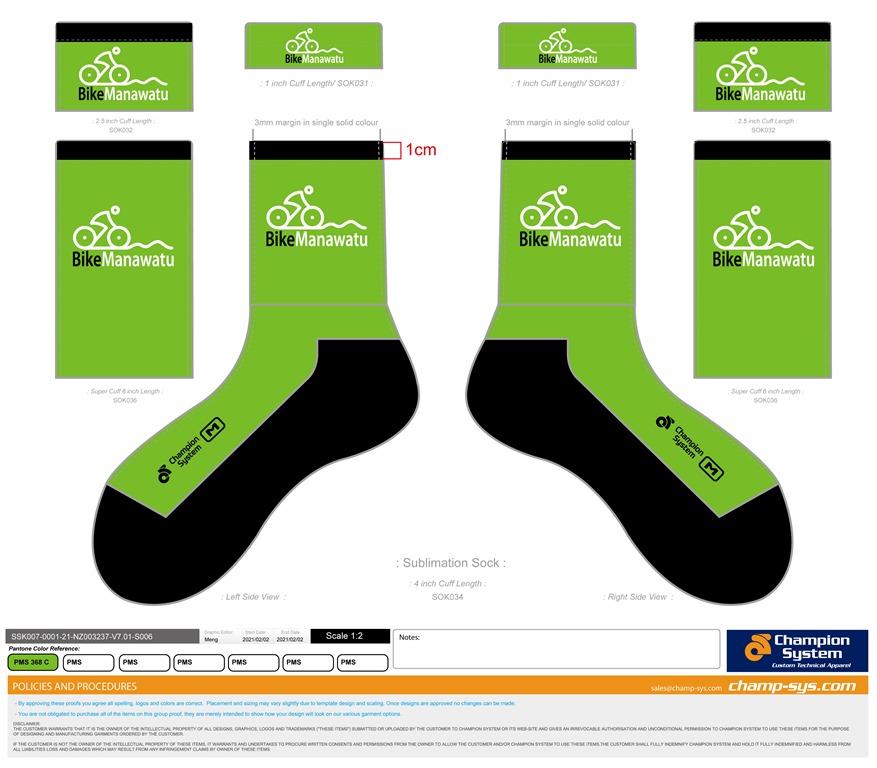 Sublimation Socks_SSK007